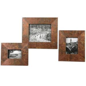 Uttermost Company Ambrosia 13 x 15 in. Photo Frame in Oxidized Copper Set of 3 U18564