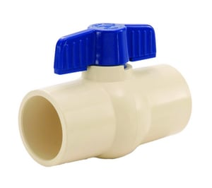 S-602 1-1/4 in. PVC Solvent Weld 150# Ball Valve L201436