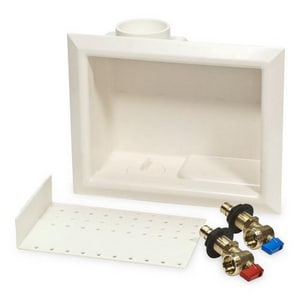 Uponor ProPEX® Wallmount Outlet Box With 1/2 Turn Propex Valve in White ULF5930500