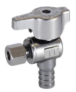 Legend Valve & Fitting T-595NL Series 5/8 in x 3/8 in Tee Handle Angle Supply Stop Valve in Polished Chrome L114604NL