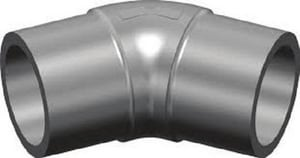 4 in. Butt Fusion IPS Straight DR 11 MDPE 45 Degree Elbow for PE2406 Pipe MPEI11B4P