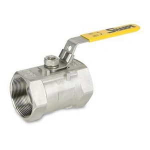 Warren Alloy Valve & Fitting 1010C Series 3/8 in. Stainless Steel Reduced Port Threaded Ball Valve W1010C
