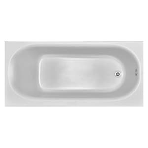 Koral Industrial Bathtub with Right-Hand Drain in White KT0276RHWH