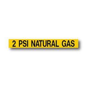 Seton Identification Products 2 psi Gas Sticker in Black|Yellow GS2PSI
