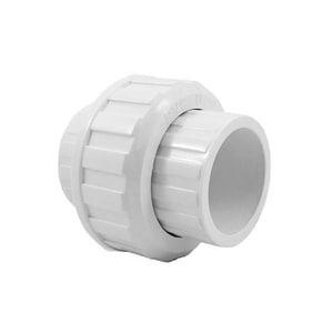 Legend Valve & Fitting 1/2 in. Solvent Weld Straight Schedule 40 PVC Union L204193