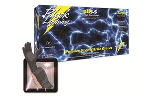 Atlantic Safety Products Inc XL Size Nitrile Lightning Gloves in Black ABLXL