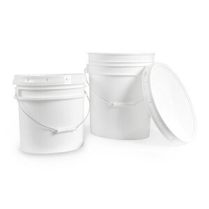 Ropak Corporation 3-1/2 gal. Plastic Bucket in White RR3580A120M1