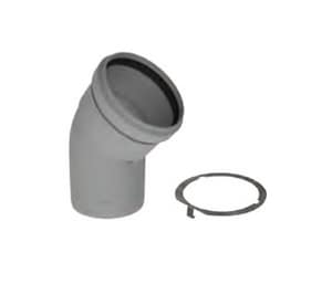 M&G Duravent Polypro® 3 in. 45 Degree Gas Vent Elbow MGDPPSE45L
