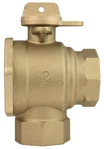 Ford Meter Box 2 in. FIP Angle No-Lead Ball Valve FBA11777WNL