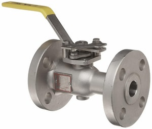 Warren Alloy Valve & Fitting 4 in. Full Port Flanged 300# Ball Valve W6305FSP