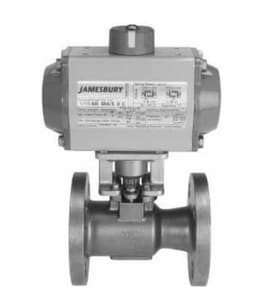 Metso Automation Series 7000 3/4 in. 316 Stainless Steel Reduced Port Flanged 150# 1 piece Ball Valve with PTFE Seat J7150313600TTT2AF
