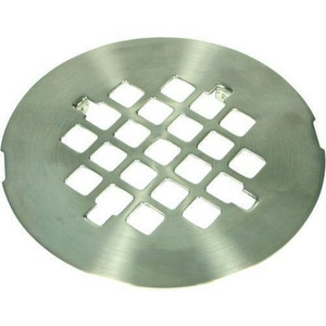Signature Hardware 1-Hole Tub/ Shower Snap- In Drain Cover with 304 Stainless Steel PVD Brushed Nickel SH602BN