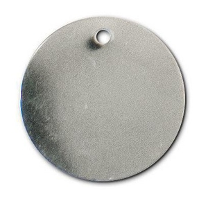 Identification Plates 1-1/2 x 3 in. Stainless Steel Tag ISSTAGO
