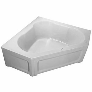 American Whirlpool Contractors Advantage 59-3/4 x 59-3/4 in. Bathtub in White ARN6060TOFSWH