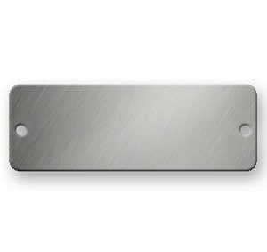 Identification Plates 1-1/2 x 3 in. Stainless Steel Tag 815-637-7960 ISSTAGC