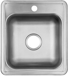 PROFLO® Bealeton 17 x 19 in. 1-Hole Bowl Drop-in Kitchen Sink in Stainless Steel PFSR171961