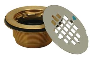 PROFLO® 2 in. SCH40 Brass No Caulk Shower Drain Stainless Steel PF140NC