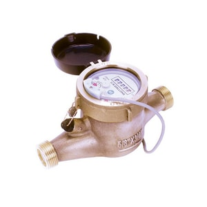 Seametrics MJN Series 1-1/2 in. 100 gpm Bronze and Thermoplastic Cold Water, Reed Switch Pulse Meter SMJNR150