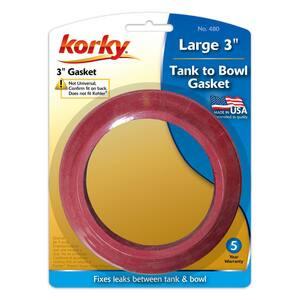 Korky 3 in. Red Gasket L480BP