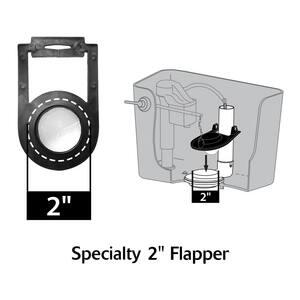 Korky 2 in. Flapper in Black L57BP