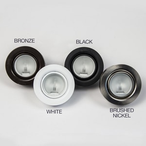 GM Lighting 1-Light Xenon Puck Light in Black GXP20B