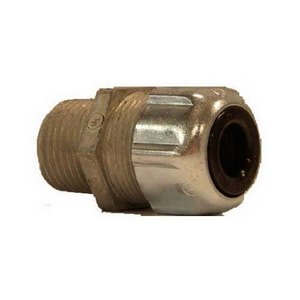 Thomas & Betts Strain Relief Cord Connector in Metallic T2521