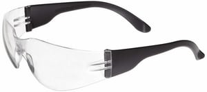 SAS Safety Safety Glasses with Black Frame & Clear Lens SAS5340