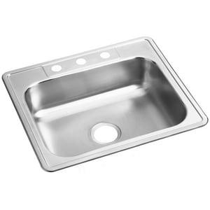 Dayton 25 x 21-1/4 in. 1 Hole Stainless Steel Single Bowl Drop-in Kitchen Sink DD125211