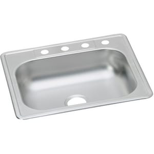 Kingsford SS Sink 3-Hole Single Bowl Stainless Steel Kitchen Sink Satin Kingsford SS Sink KK12522