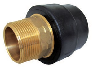 B & D Mfg. 1-1/4 in. Fusion x Male Straight DR 11 Plastic Adapter PEI11SMA