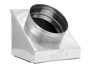 Cody Company 8 in x 4 in x 5 in Duct Square-To-Round COD645R6XPS