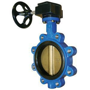 Centerline 10 in. Ductile Iron EPDM Seat Gear Operator Handle 200# Lug Butterfly Valve CCV06135510