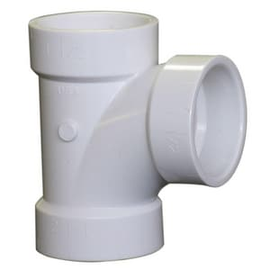 Georg Fischer Corporation 3 in. Socket Straight and Sanitary HDPE and Polypropylene Tee F526153