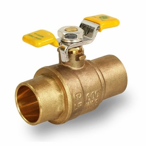 Everflow 1/2 in. Brass Sweat Ball Valve E615CNL