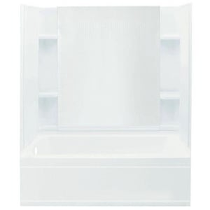 Bathcraft Calloway 60 x 31-3/8 in. Fiberglass Tub and Shower with Left Hand Drain in White B0600L00