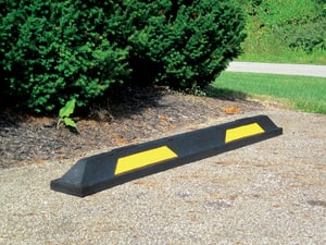 Innoplast Inc 6 x 4-1/2 x 72 in. Recycled Rubber Parking Block in Black and Yellow IPBR6 at Pollardwater
