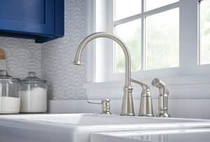 Moen Whitmore™ Single Handle Kitchen Faucet in Spot Resist Stainless Steel M87044SRS