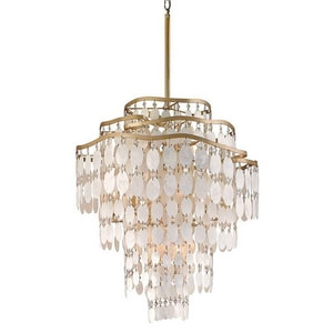 Corbett Lighting Dolce 25 in. 60W 12-Light Candelabra E-12 Pendant in Champagne Leaf C109412220