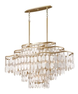 Corbett Lighting Dolce 60W 12-Light Candelabra E-12 Island Light in Champagne Leaf C109512220P