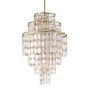 Corbett Lighting Dolce 25 in. 60W 12-Light Candelabra E-12 Pendant in Champagne Leaf C109712220P