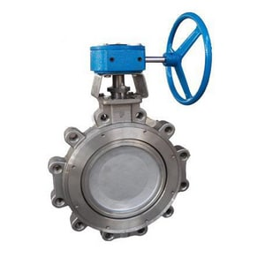6 in. 150# Carbon Steel Lug Butterfly Valve with RTFE Seat and Lever Operator and Stainless Steel Disc F1DA12DRTGHU