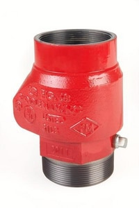 United Brass Works 4 in. MNPT x Grooved Ductile Iron Check Valve U68TXGP