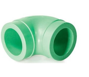 Aquatherm Greenpipe® 3/8 in. Socket Weld x Butt Weld Straight SDR 6 Polypropylene 90 Degree Elbow A0112106