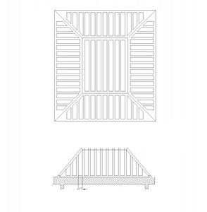 Olympic Foundry 24 x 20 in. Ductile Iron Beehive Frame and Grate O124505SET