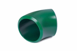 Aquatherm Greenpipe® 8 in. Straight and Short Radius DR 11 Fusiolen® and Polypropylene 45 Degree Elbow in Green A112535SZ