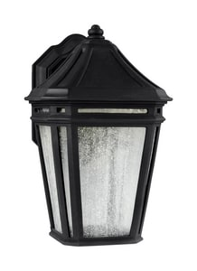 Hubbardton Forge Ursa 1-Light 11W Wall Mount Small LED Outdoor Wall Sconce in Coastal Black H302501D10I359