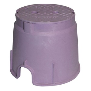 Olympic Foundry 10 in. Valve Box with Water Cover O146230