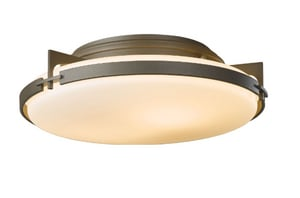 Hubbardton Forge 60W 2-Light Flushmount Ceiling Fixture in Dark Smoke H1267451006