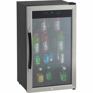 Avanti Beverage Cooler with Reversible Door in Black ABCA306SSIS