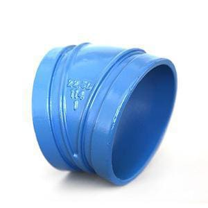 Aquatherm Blue Pipe® 18 in. Butt Weld Straight and Short Radius DR 17.6 Fusiolen® PP-R Faser-Composite and Polypropylene 45 Degree Elbow in Blue A2512548SZ